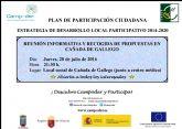 Reunión de Participación Ciudadana en Cañada de Gallego para recabar ideas que mejoren el desarrollo rural del municipio