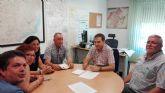 La Teniente de Alcalde, la edil de Sanidad y la Comunidad de Regantes de Campos del Río se reúnen con la Confederación Hidrográfica del Segura