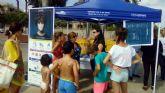 La concejalía de Medio Ambiente invita a los bañistas a reciclar y respirar