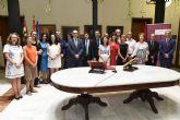 Toma de posesión de nuevos catedráticos y profesores titulares de la Universidad de Murcia.