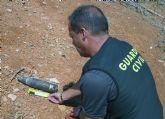 La Guardia Civil desactiva un proyectil de artillería y retira dos granadas de mortero inertes
