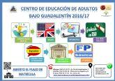 Contin�a abierto el plazo de matr�cula del Centro de Educaci�n de Adultos 'Bajo Guadalent�n' para el pr�ximo curso 2016/2017