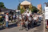 Decenas de personas peregrinan con San Ginés desde el centro de Cartagena hasta el Monte Miral