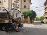 El Ayuntamiento de Beniel desarrolla labores de limpieza de imbornales y alcantarillado ante la posibilidad de fuertes lluvias