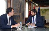 El presidente de la Comunidad, Fernando López Miras, se reúne con el alcalde de Murcia, José Ballesta