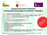 Abierto el plazo de inscripci�n para el programa formativo profesional de actividades auxiliares de viveros y jardines