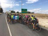 Más de 40 integrantes del club ciclista Pinatar realiza una ruta cicloturística a Bullas