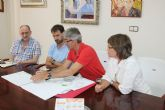 Reuni�n para definir el pabell�n del nuevo IES Valle de Leiva