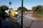 Última fase de los trabajos de limpieza en los pueblos del Mar Menor
