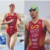 Sergio Baxter y Natalia Hidalgo, en el Campeonato de Europa de Triatlón junto a la Triarmada