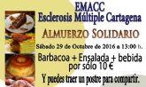 Un almuerzo solidario recaudará fondos para la Asociación de Esclerosis Multiple de Cartagena
