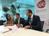 El Ayuntamiento de Torre Pacheco y la Asociación de jóvenes Empresarios de la Región de Murcia (AJE) firman un convenio de colaboración
