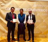 El alcalde recoge en Zaragoza el Premio nacional a la Mejor Actividad de Puertas Abiertas por 'Don Juan Tenorio. Sueño y realidad en el cementerio de San Javier'