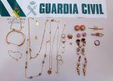 La Guardia Civil detiene a dos jóvenes por el robo en una vivienda de Villanueva del Río Segura