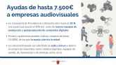 Audiovisual companies can now request new aid of up to 7,500 euros to acquire production and post-production equipment