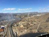 Incendio de cultivos abandonados en Cieza