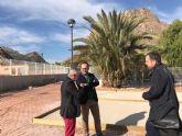 La Comunidad construye un nuevo jardín junto a la piscina municipal de Ojós