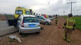 Fallece una mujer al colisionar dos turismos en la carretera La Palma-Torre Pacheco