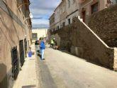 Avanzan los trabajos de consolidación del monte de las Casillas y el acondicionamiento de muros de contención en San Antón