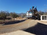 Las obras de acondicionamiento del camino de El Romeral entran en su �ltima fase