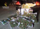 La Guardia Civil sorprende a un conductor con 22,6 kilos de marihuana en Yecla