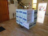Hidrogea entrega productos de primera necesidad a la Hospitalidad de Santa Teresa, con la colaboración de Dosfarma