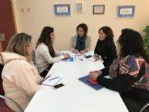 Reunión de trabajo, entre la directora general de Mujer y la concejala de Igualdad