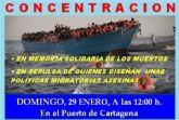 Cartagena homenajeara a los fallecidos del exodo migratorio del Mediterraneo de 2016
