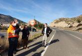 Fomento refuerza la seguridad de los usuarios de la carretera que une Abarán con Blanca gracias a la estabilización de sus taludes