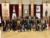 Un grupo de 40 estudiantes alemanes conocen el Ayuntamiento por dentro