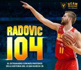 Nemanja Radovic se convierte en el extranjero del UCAM Murcia CB con más partidos en Liga Endesa