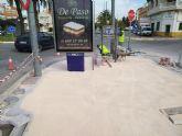 Cumplimentan las obras de pavimentación de aceras y parterres en el tramo que faltaba de la avenida Juan Carlos I para adecuar la travesía urbana