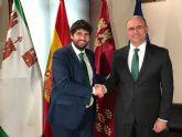 El alcalde de Pliego se ha reunido con el presidente regional en el Palacio de San Esteban