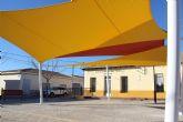 Instalado sombraje en la Plaza de las Escuelas de Cañada del Trigo