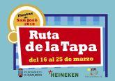 Listado de ganadores del sorteo de la Ruta de la Tapa de las Fiestas de San José