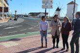 La remodelación de la calle Campoamor amplía la red de carril bici y mejora el acceso a Lo Pagán