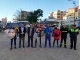 La PAPEA realizó hoy un ensayo del salto paracaidista que realizarán el próximo domingo, en el Encuentro del Resucitado en Alcantarilla