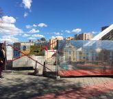 Las obras de sustitución del pavimento de la pasarela Jorge Manrique continúan según los plazos previstos