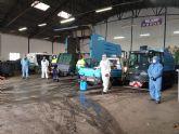 Las labores de desinfección son diarias y desde el Ayuntamiento agradecen al equipo humano que las lleva a cabo