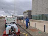 Brigadas Forestales en Torre Pacheco realizando tareas de desinfección en vías y espacios públicos