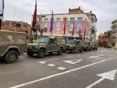 Miembros de la Brigada Paracaidista con Sede en Javalí, llegan a Totana