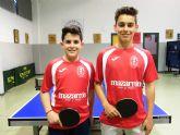 Dos mazarroneros competirán con la selección murciana de tenis de mesa en los Campeonatos de España de Juventud