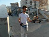 Un alumno de la Politécnica crea un robot oruga para inspeccionar escenarios de riesgo
