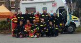 La Unidad Canina de Protección Civil participa en el simulacro regional de un supuesto terremoto que se registra en la Región de Murcia