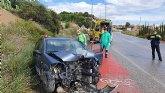 Conductor herido al salir su vehículo de la carretera, en Archena