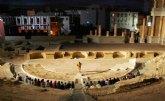 El Museo del Teatro Romano de Cartagena acoge durante el mes de junio nuevas visitas nocturnas y teatralizadas al monumento