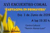 El XVI Encuentro de Coros ´Cartagena en Primavera´ reúne en El Luzzy a tres de los mejores grupos de la Región