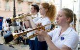 Cartagena y Noruega se unieron por la música con una actuación de bandas en la Plaza del Ayuntamiento