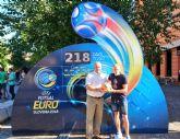 El capitán de ElPozo Murcia FS, Miguelín, ejerce de embajador con UEFA para presentar el Europeo 2018 en Eslovenia