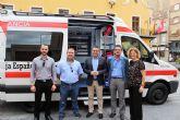 Cruz Roja presenta su primera ambulancia de soporte vital básico para Alcantarilla